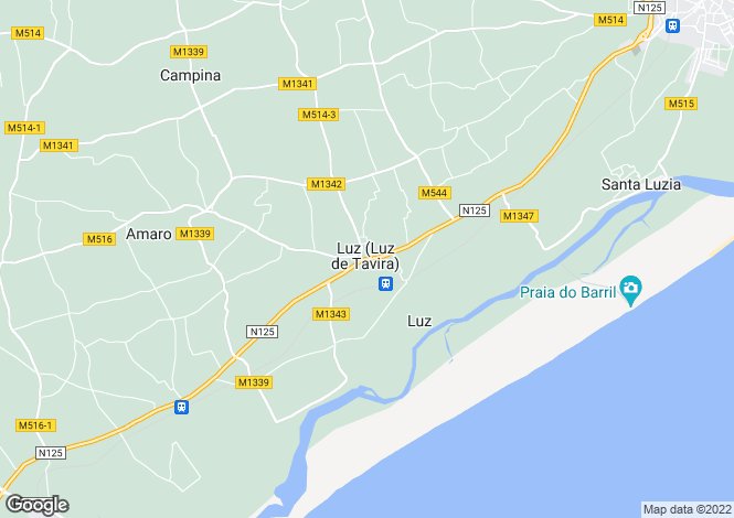 Map for Portugal,Algarve,Luz De Tavira E Santo Estevao