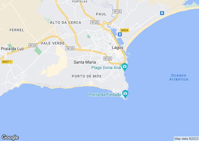 Map for Porto De Mos, Algarve