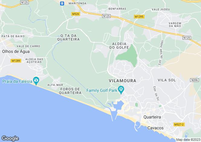 Map for Vilamoura, Algarve, Portugal