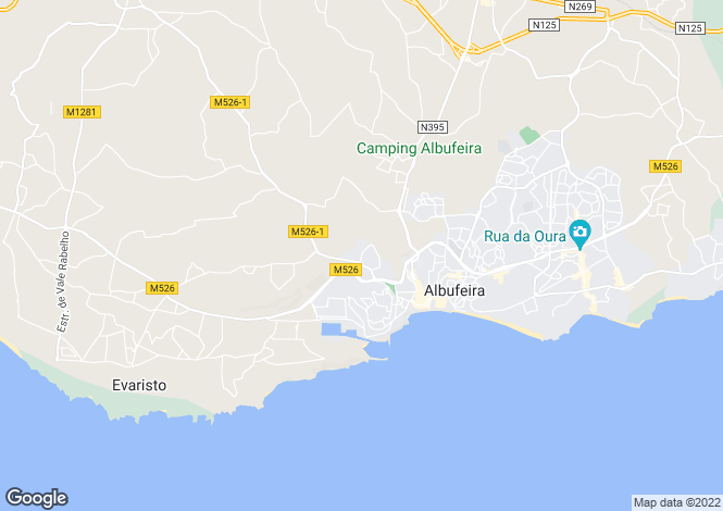 Map for Portugal,Algarve,Olhos D'Agua