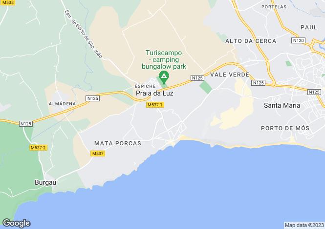 Map for 2 bedroom duplex apartment with Ocean Views, Praia da Luz