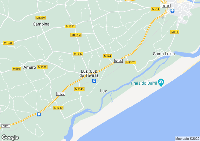 Map for Luz De Tavira, Algarve