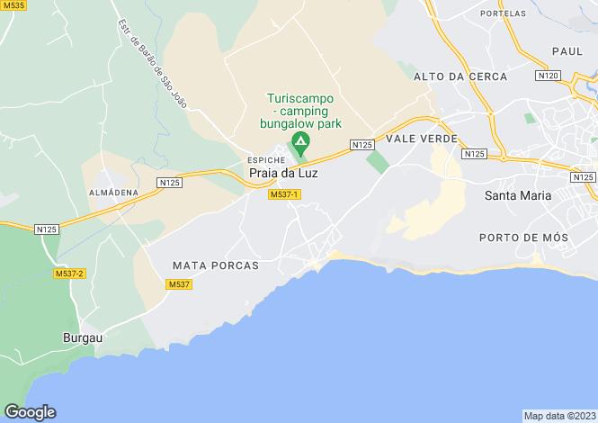 Map for Portugal - Algarve, Praia da Luz