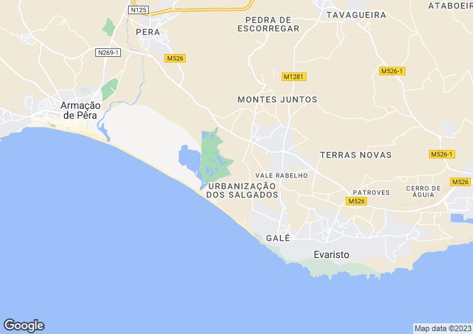 Map for Golf - Salgados Golf , Algarve, Portugal