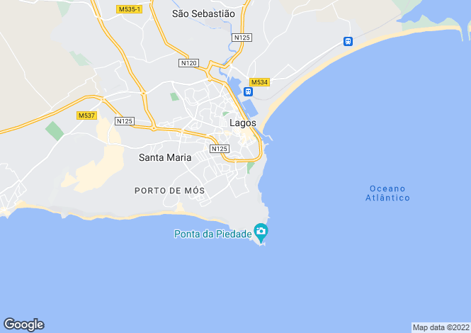 Map for Portugal,Algarve,Lagos