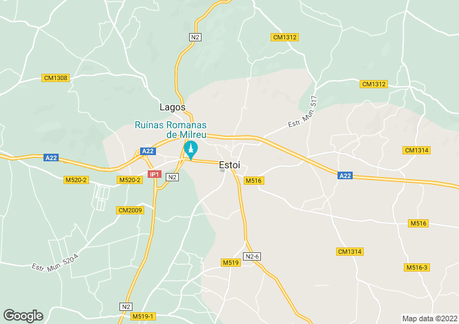 Map for Faro, Portugal