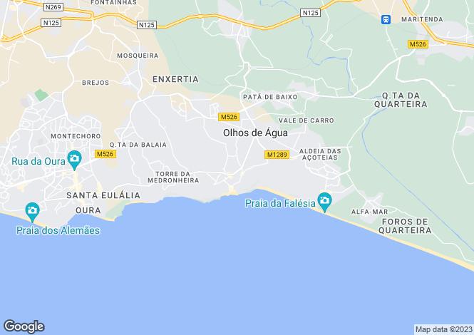 Map for Olhos D'agua, Algarve