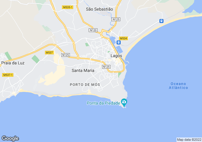 Map for Portugal - Algarve, Lagos