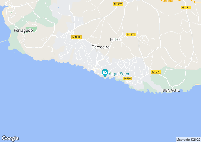 Map for 3 Bed Apartment in the Centre of Carvoeiro
