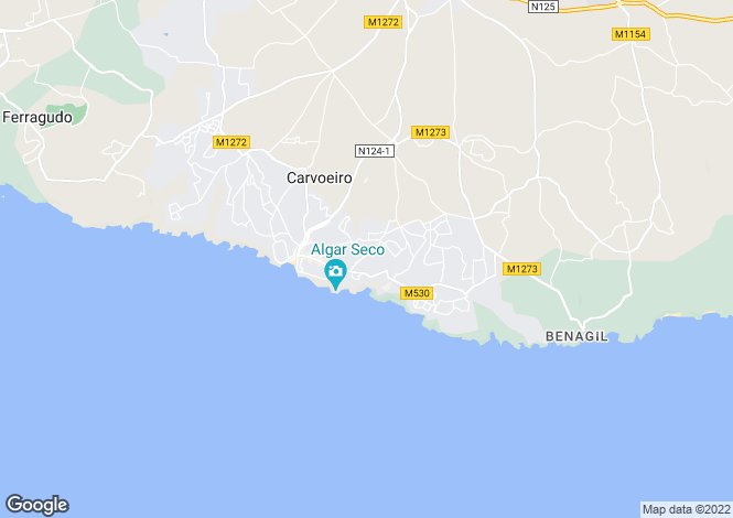 Map for 6 bedroom villa with ocean views and walking distance of Carvoeiro, Portugal