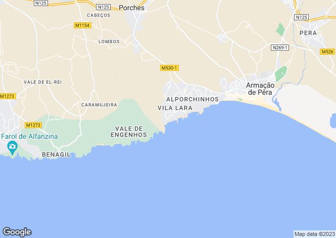 Map for Algarve, Porches