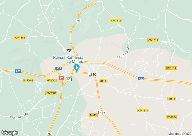 Map for Algarve, Estói