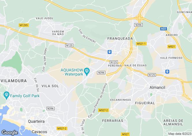 Map for Quarteira, Loulé, Faro