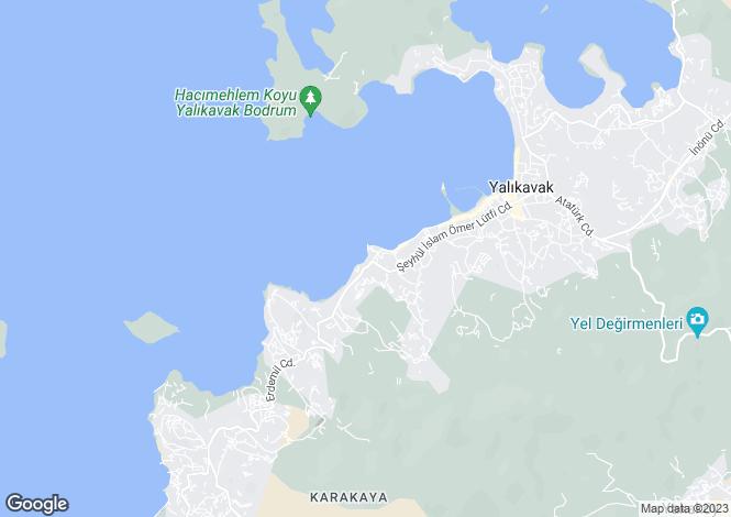 Map for Yalikavak, Bodrum, Mugla