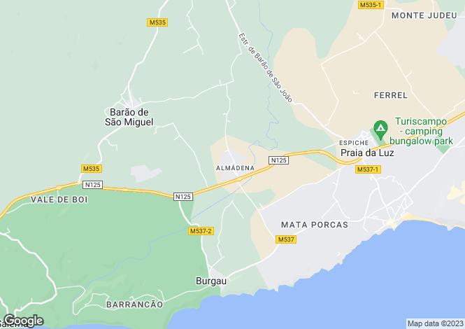 Map for Algarve, Almadena