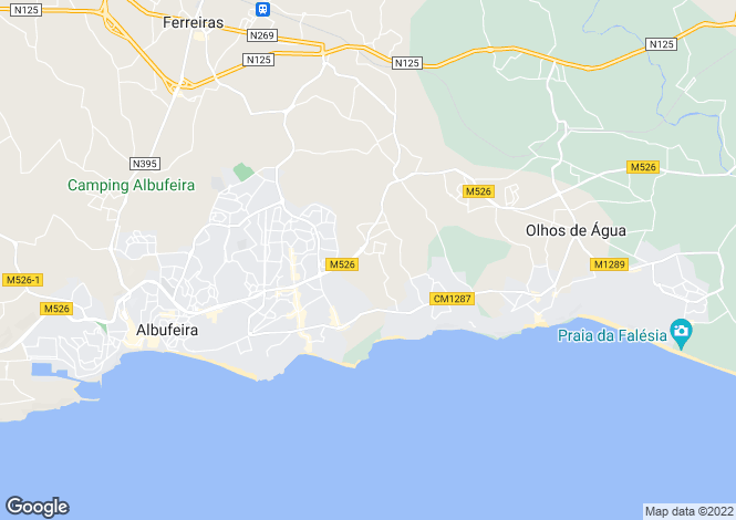 Map for Algarve, Balaia