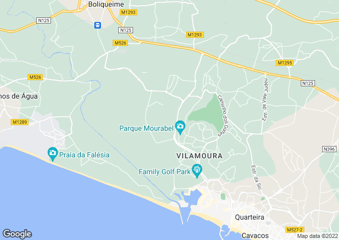 Map for Algarve, Vilamoura