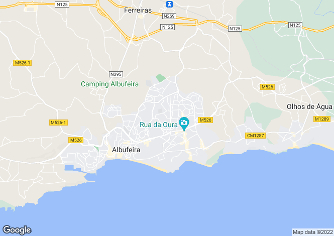 Map for Albufeira, Portugal