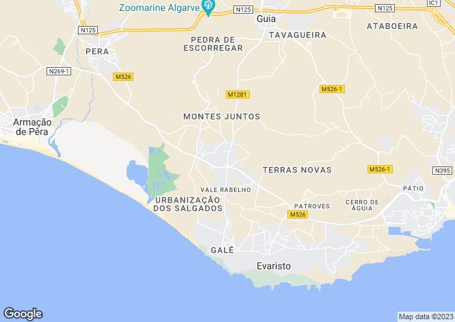 Map for Portugal,Algarve,Vale De Parra