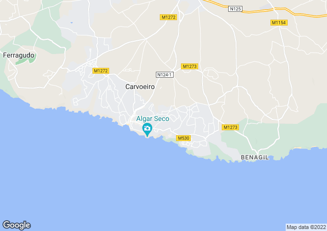 Map for 6-bedroom villa within walking distance of Carvoeiro