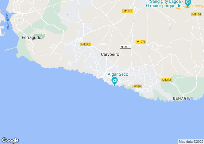 Map for Plot in the Centre of Carvoeiro