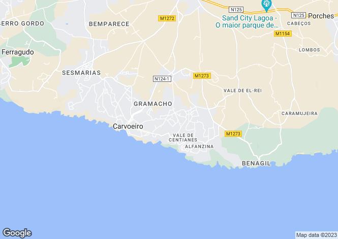 Map for CarvoeIro, Algarve Central, Portugal