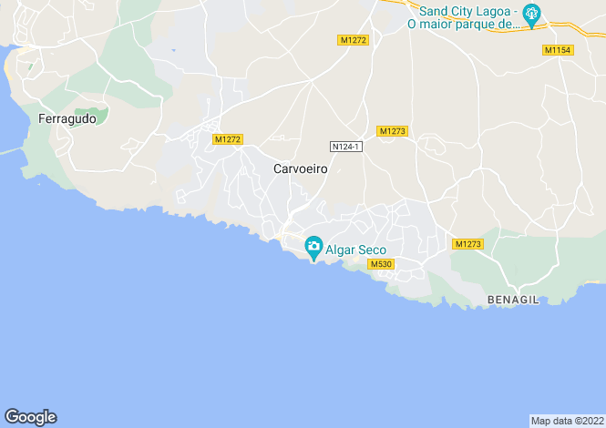 Map for 2 bedroom Duplex in the Centre of Carvoeiro