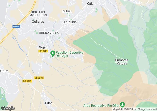 Map for Zubia, Granada, Andalusia