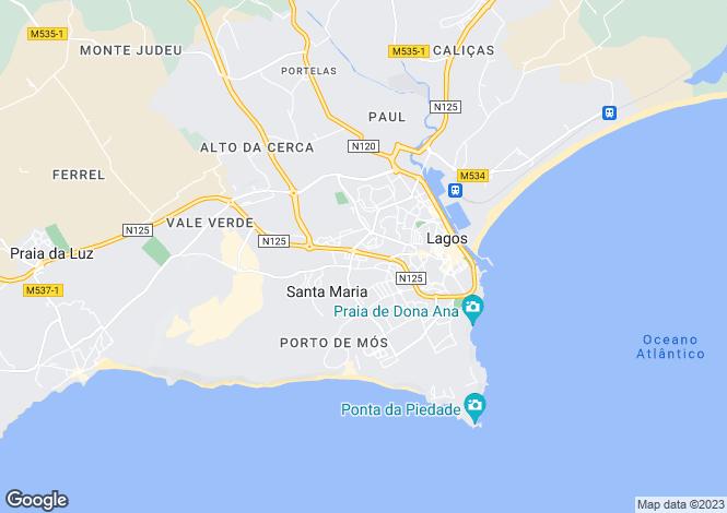 Map for Detached Villa, Pedra Alçada, Lagos