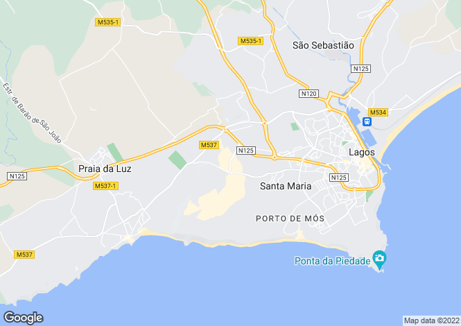 Map for Algarve, Porto De Mos