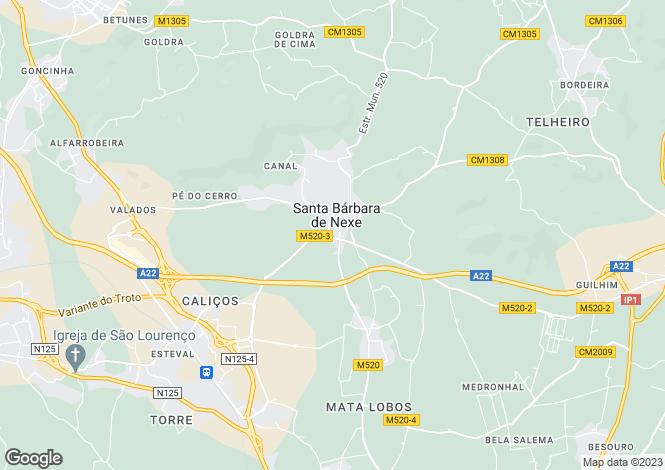 Map for Santa Bárbara de Nexe, Algarve