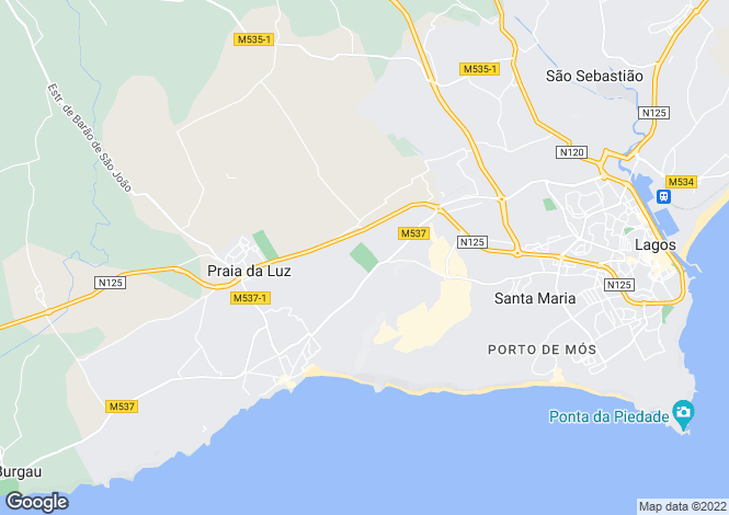 Map for Lagos, Portugal