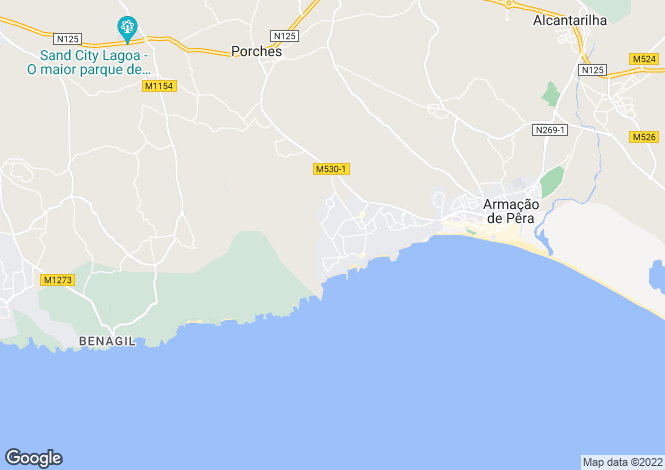 Map for Porches, Algarve