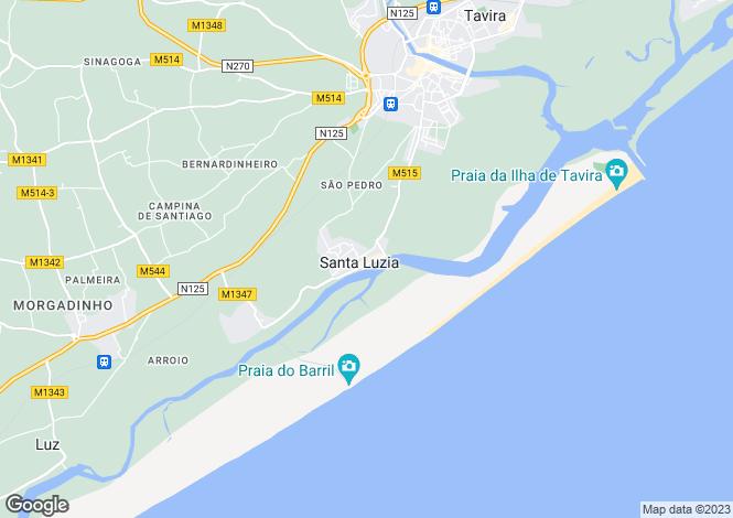 Map for Santa Luzia, Tavira, Faro