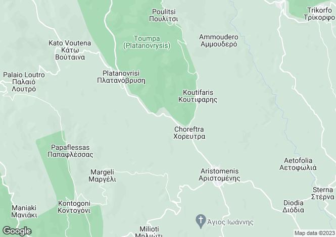 Map for Aristomenis, Messinia, Peloponnese