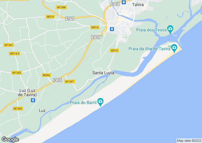 Map for Algarve, Santa Luzia