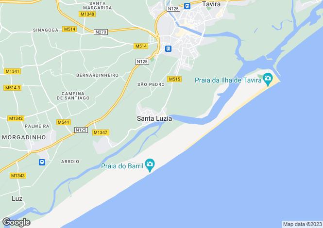 Map for Santa Luzia, Algarve