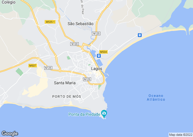 Map for Golf Property, Lagos, Algarve