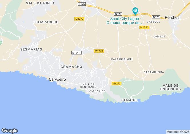 Map for Algarve, Carvoeiro