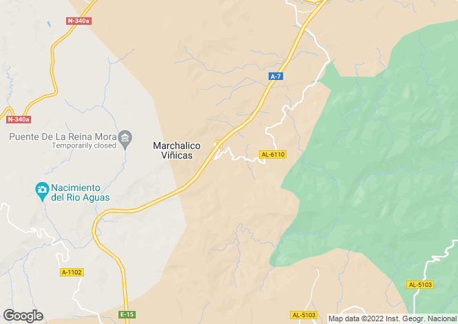Map for Andalucia, Almería, Sorbas