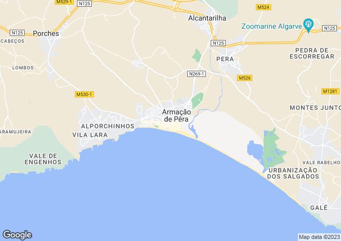 Map for Algarve, Armação de Pera
