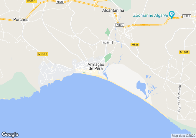 Map for Portugal,Algarve,Armação de Pêra