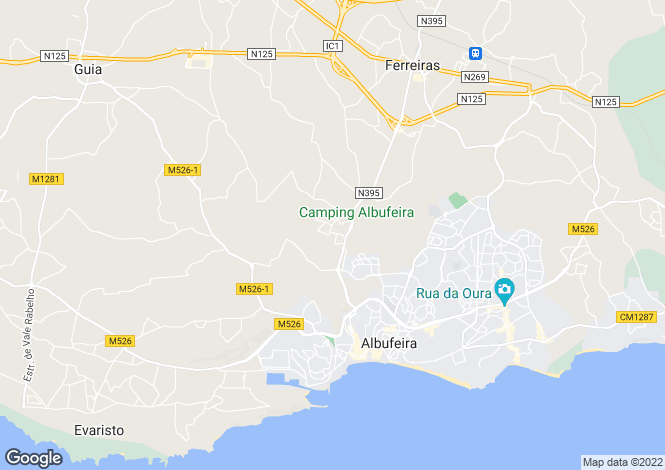 Map for Albufeira, Algarve