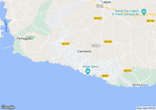 Map for 4 bedroom Villa in walking distance of Carvoeiro.
