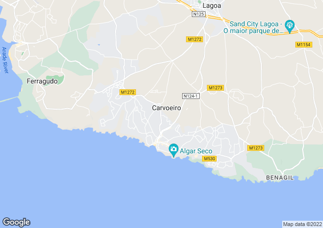Map for Unique 3 bed property on good plot, walking distance into Carvoeiro, Portugal