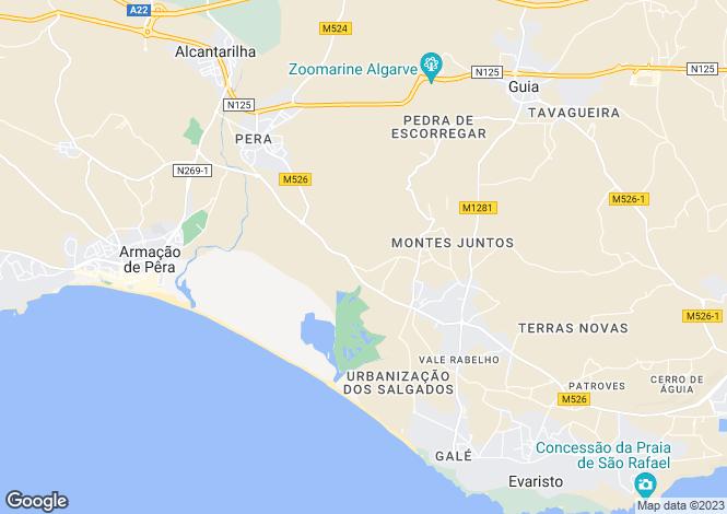 Map for Guia, Algarve