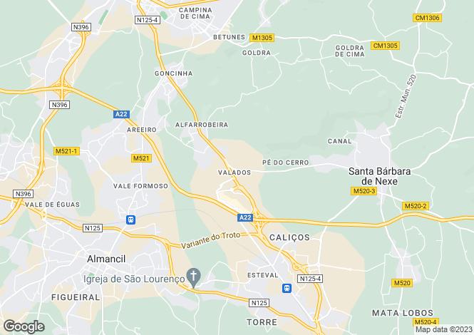 Map for Algarve, Santa Barbara