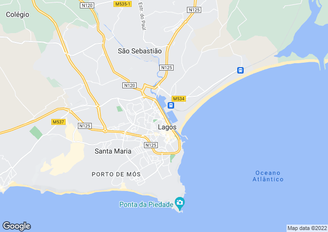 Map for Penthouse Apartment, Lagos, Algarve
