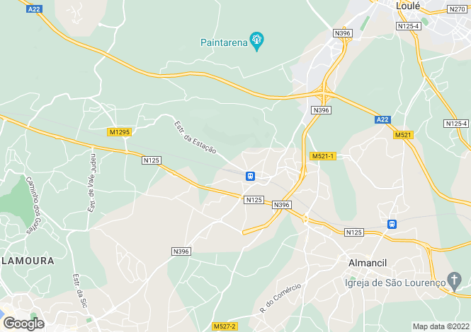 Map for Algarve, Sao Sebastiao