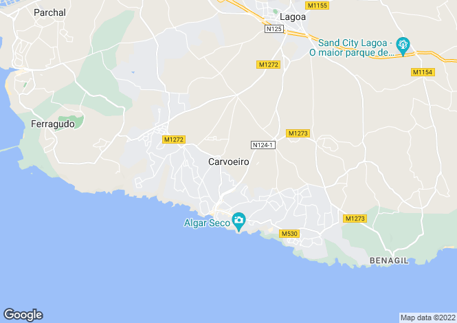 Map for CarvoeIro, Algarve Central, Portugal